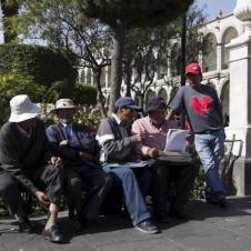 Ecrivain publique sur la place des armes à Arequipa